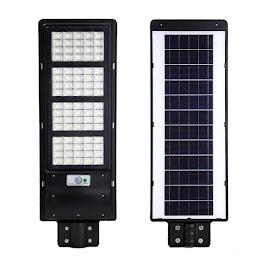 Lampa stradala 120W cu panou solar, 6500K, telecomanda