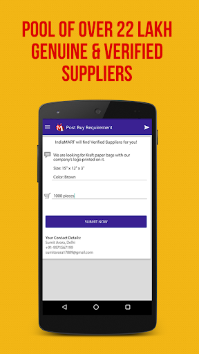 IndiaMART : Search, Buy & Sell app (apk) free download for Android/PC/Windows screenshot