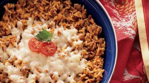 15 Minute Taco Rice Skillet Recipe