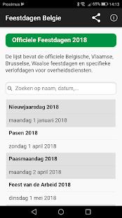 Belgian Holidays Calendar - náhled
