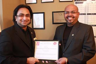 Photo: Sonal R Hariyaa of Valmiki Receives Certificate of CIEC Membership  http://canadaindiaeducation.com/introduction/media-outreach