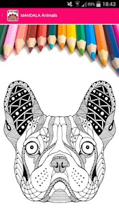 Tải Mandala Animals Coloring for adults APK