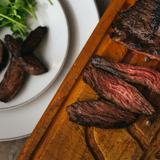 Marinated Steak with Watercress.