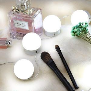 Set 10 becuri LED pentru oglinda make-up, cu reglare intensitate