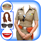 Women Police Suit Photo Editor