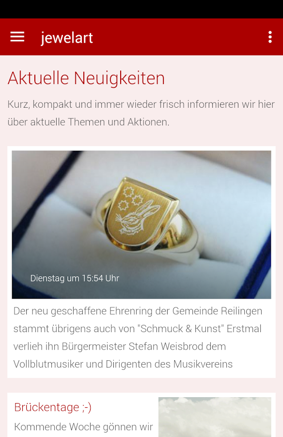 Schmuck & Kunst- screenshot