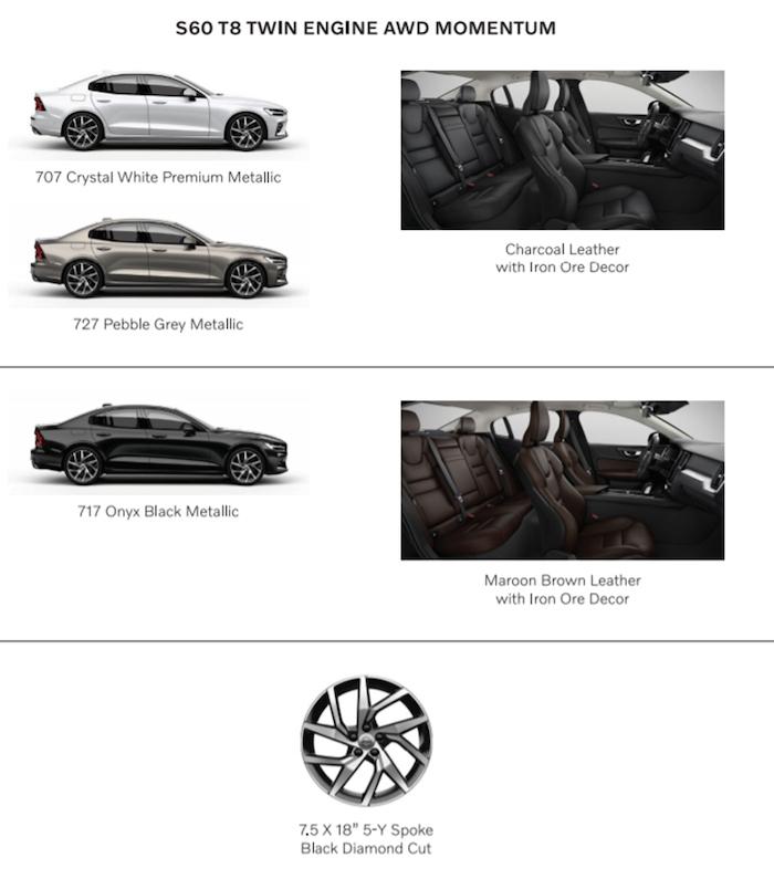 สีตัวถัง Volvo S60 R-Design