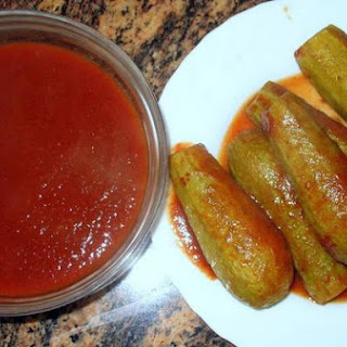 Stuffed Zucchinis With Tomato Sauce