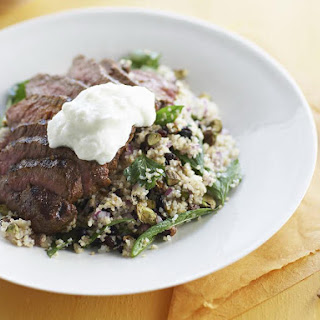 Grilled Moroccan Lamb with Bulgur Salad