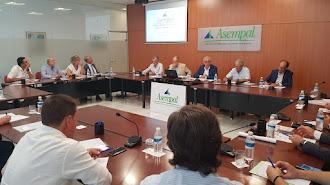 Una de las últimas reuniones presenciales de la directiva de Asempal