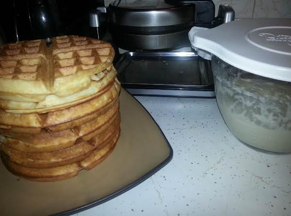 Gamma's Sweet Sourdough Pancakes/waffles Recipe
