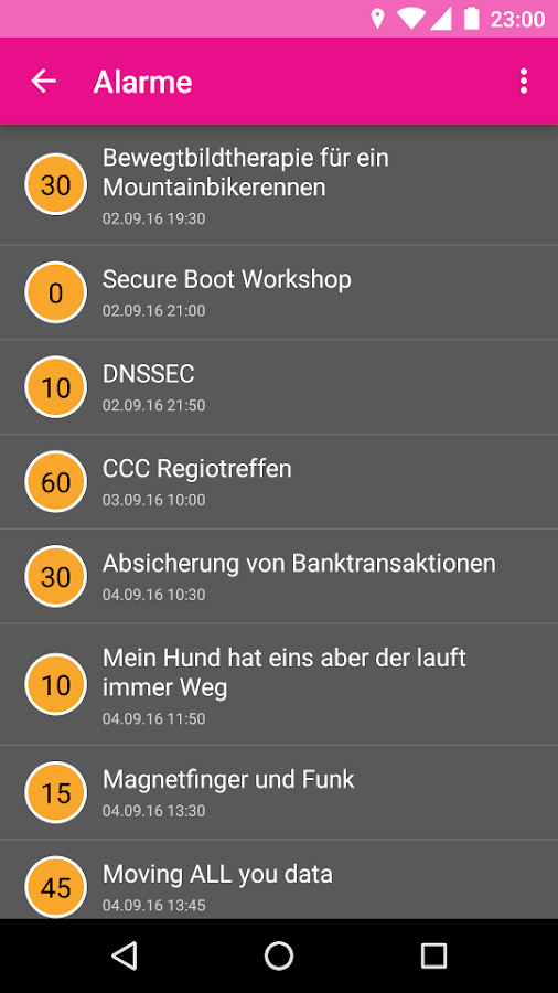 MRMCD 2016 Programm- screenshot