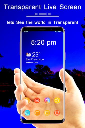 Transparent Live Wallpaper : Transparent screen 1.0 screenshots 1