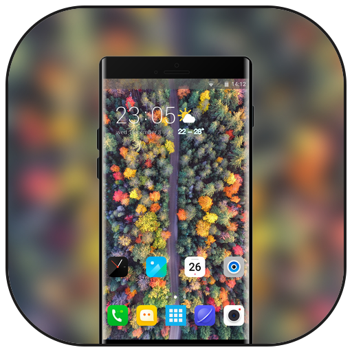 Theme for vivo v9 pro autumn forest wallpaper icon