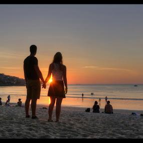 Romance on the beach by Svein Hurum - People Couples