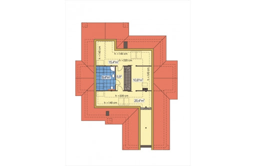 Arabella II wersja A z piwnicą - Rzut poddasza - propozycja adaptacji