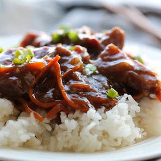 Slow Cooker Mongolian Beef.