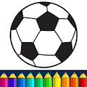 Football coloring book game icon
