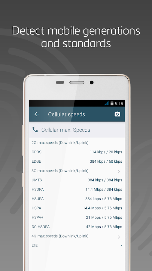 LTE Cell Info: Network Status- screenshot
