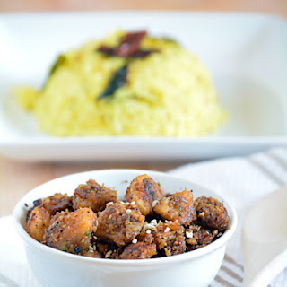 Arbi / Taro root / Seppangilangu Roast / Fry.