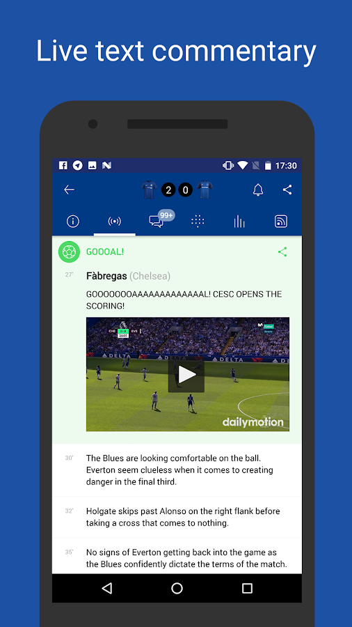 CFC Live — unofficial app for Chelsea FC Fans- screenshot