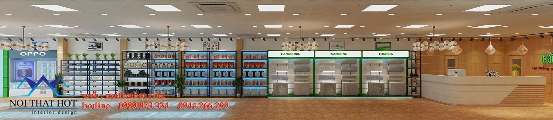 thiết kế siêu thị điện máy nổi bật