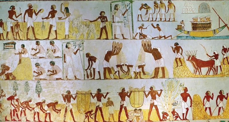 Бытовая живопись Древнего Египта