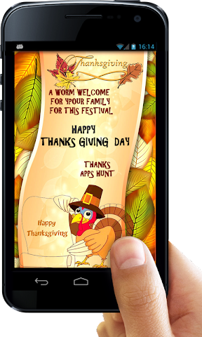 android Thanksgiving Invitation Letter Screenshot 1