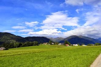 Photo: Dafür ein wunderbares Panorama. Im Tal der Drau, Nähe Spittal.
