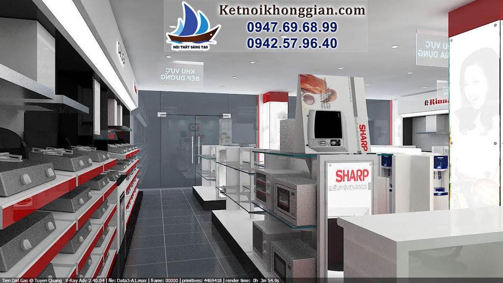 thiết kế nội thất cửa hàng chuyên nghiệp