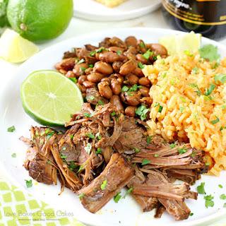 Mexican Pot Roast with Borracho Beans