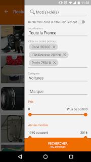 leboncoin, petites annonces screenshot 01