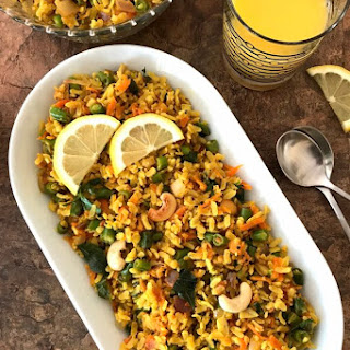 Vegetable Poha – Spiced Flattened Rice.