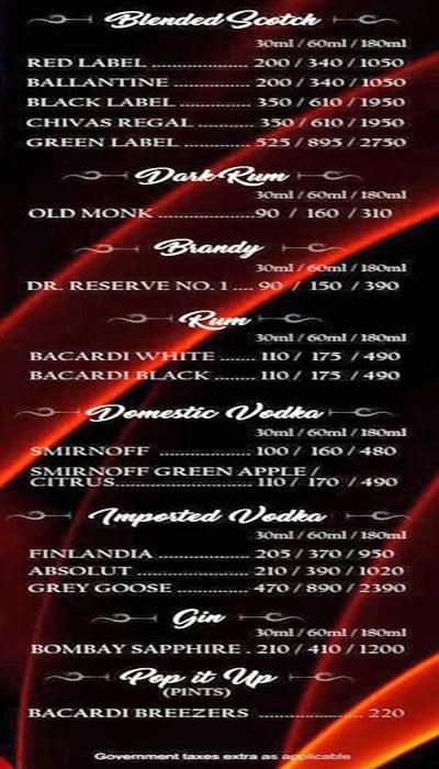 Royale MasterChef Lounge menu 3