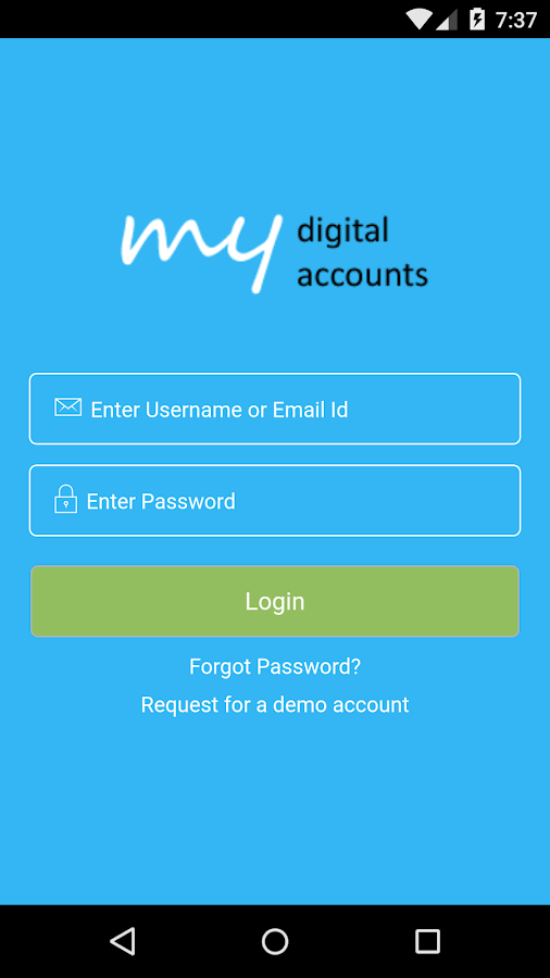 MyDigitalAccounts- screenshot