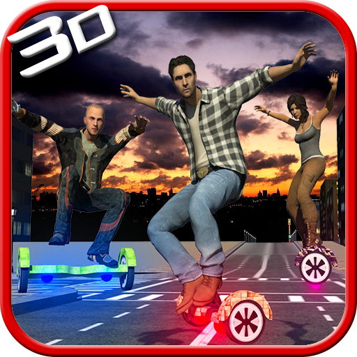 3D悬浮滑板赛车模拟器 賽車遊戲 App LOGO-硬是要APP
