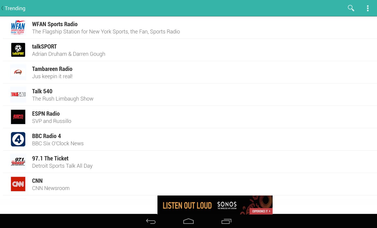 TuneIn Radio - Radio & Music - screenshot