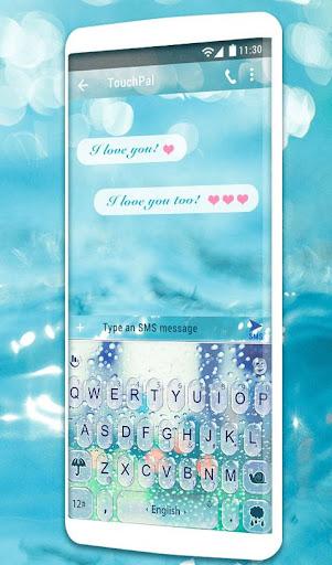 Water Keyboard -  Blue Glass Water Keyboard Theme 6.2.22.2019 app download 2