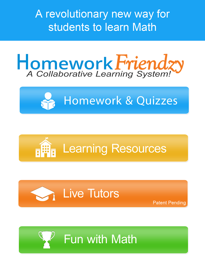 online homework help live K-12 homework help students (and parents) can get help in math online tutoring is also available for ap level class work and intro-level college coursework.