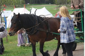 Photo: Häst och vagn var ett annat inslag idag