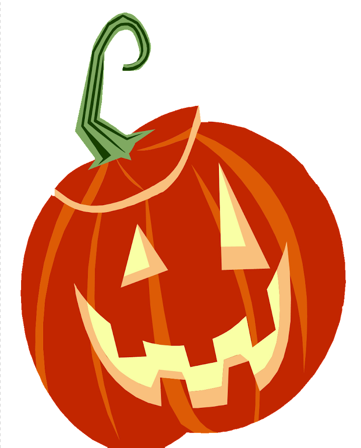 orange smiling carved pumpkin