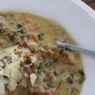 Hearty Lentil & Italian Sausage Soup