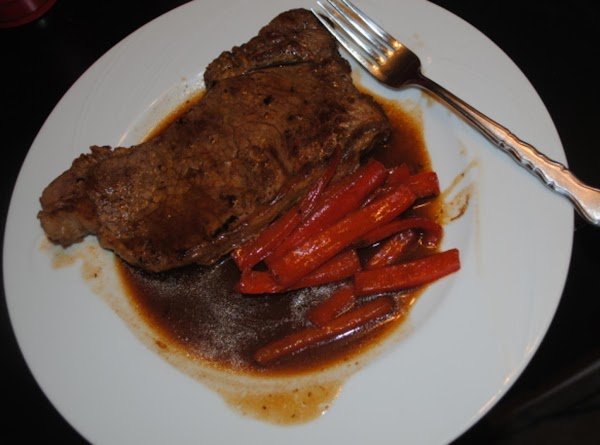 Steak With Red Bell Peppers And Beef Consumme Au Jus Recipe