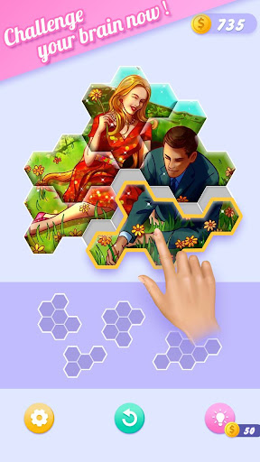 Block Jigsaw - Free Hexa Puzzle Game apkpoly screenshots 14