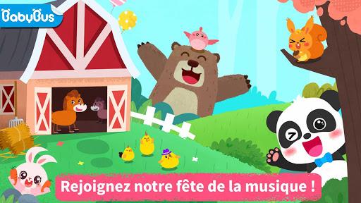 Fête de la musique de Bébé Panda fond d'écran 1