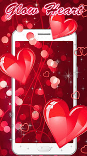 Let Your Mobile Phone Screen Is Unusual With Crimson Love Heart Wallpaper
