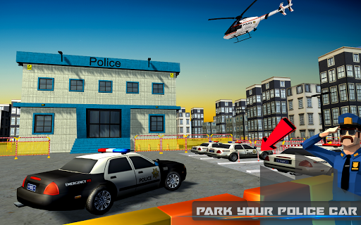 Autoroute police voiture parking 3D: cascade parki  captures d'écran 1