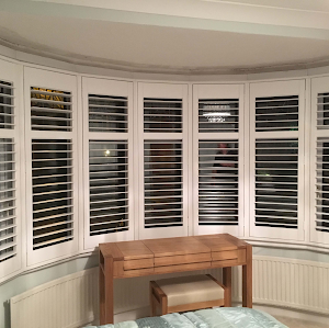 Green round Plantation shutters London