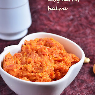 Easy Carrot Halwa Recipe With Condensed Milk, Easy Gajar Halwa.