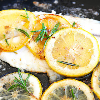Tilapia with Browned Butter and Lemon Sauce.